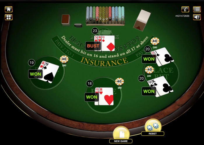 Blackjack Split Result