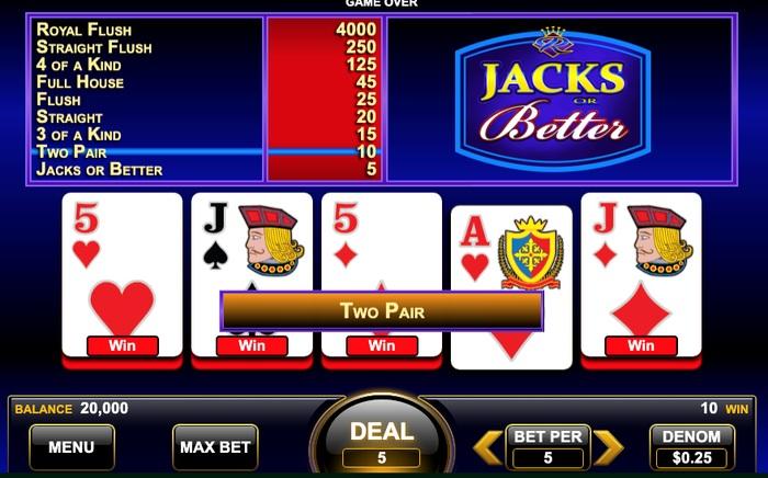 Video Poker Draw