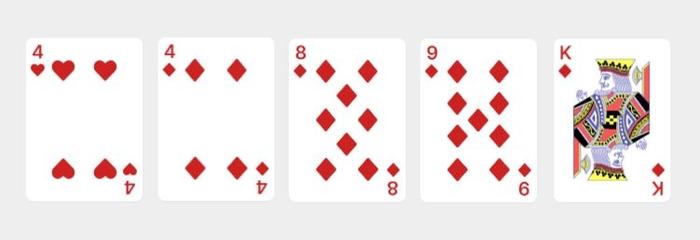 Video Poker Hand 1