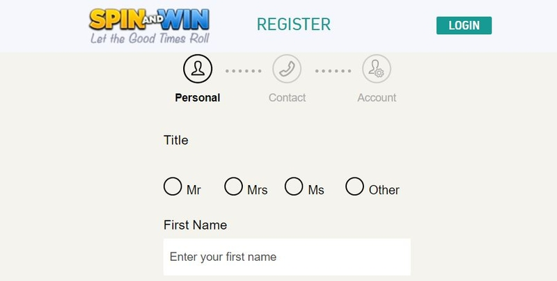 Spin and Win Register